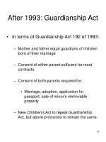 after 1993 guardianship act