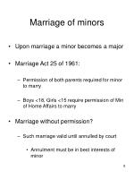 marriage of minors