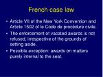 french case law
