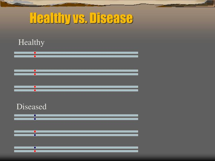 Healthy vs. Disease