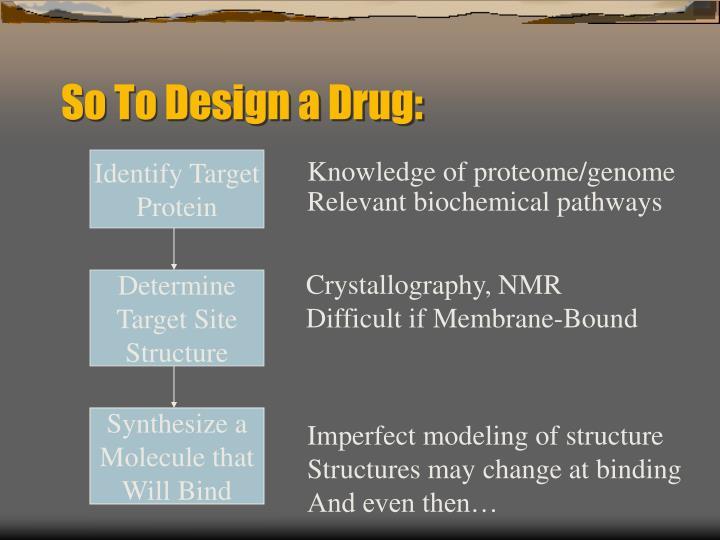 So To Design a Drug: