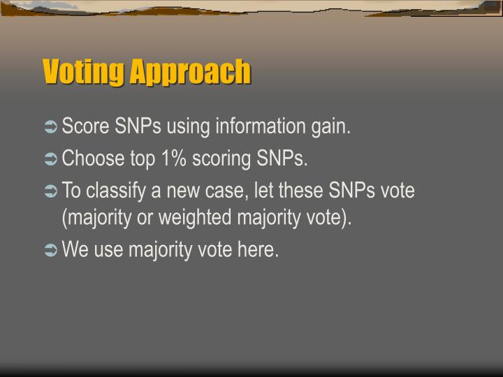 Voting Approach