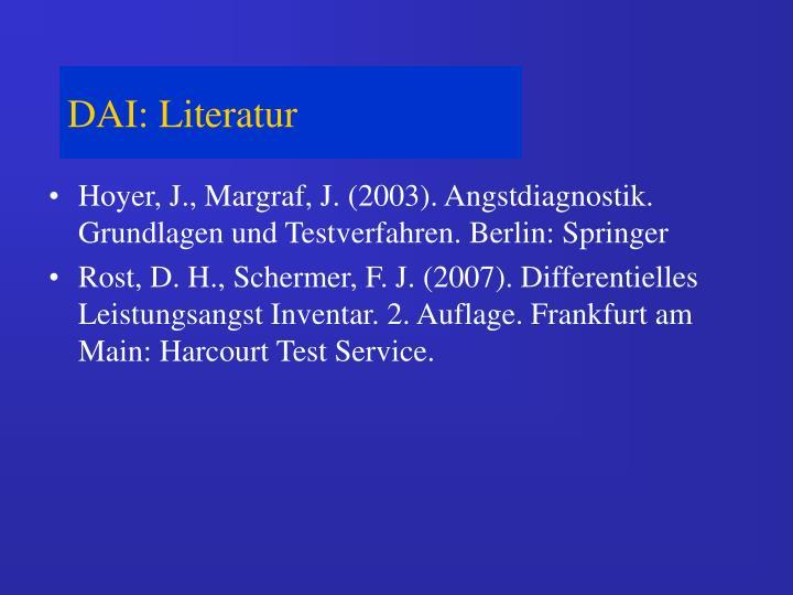 DAI: Literatur
