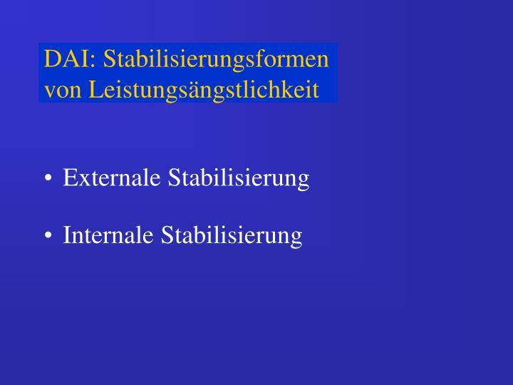 DAI: Stabilisierungsformen von Leistungsängstlichkeit