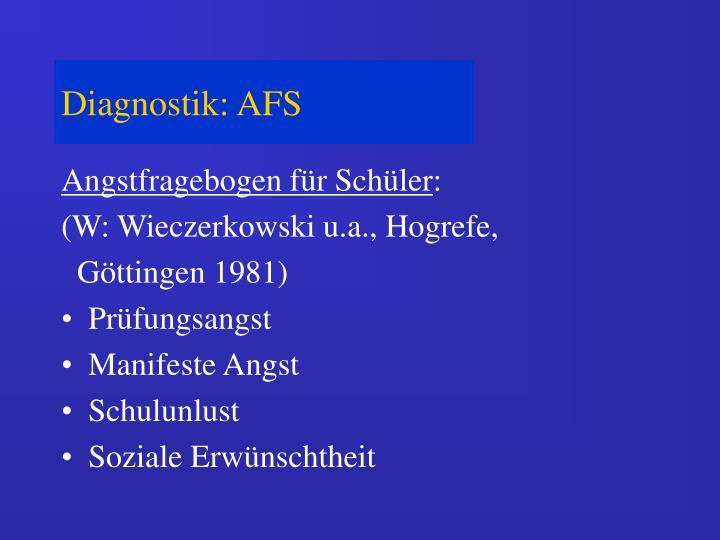 Diagnostik: AFS