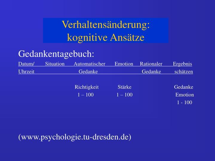 Gedankentagebuch: