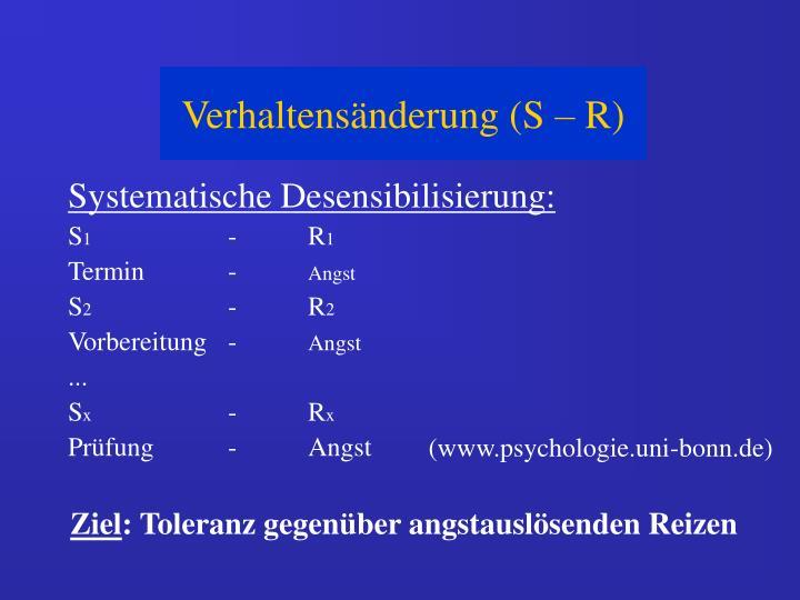 Systematische Desensibilisierung: