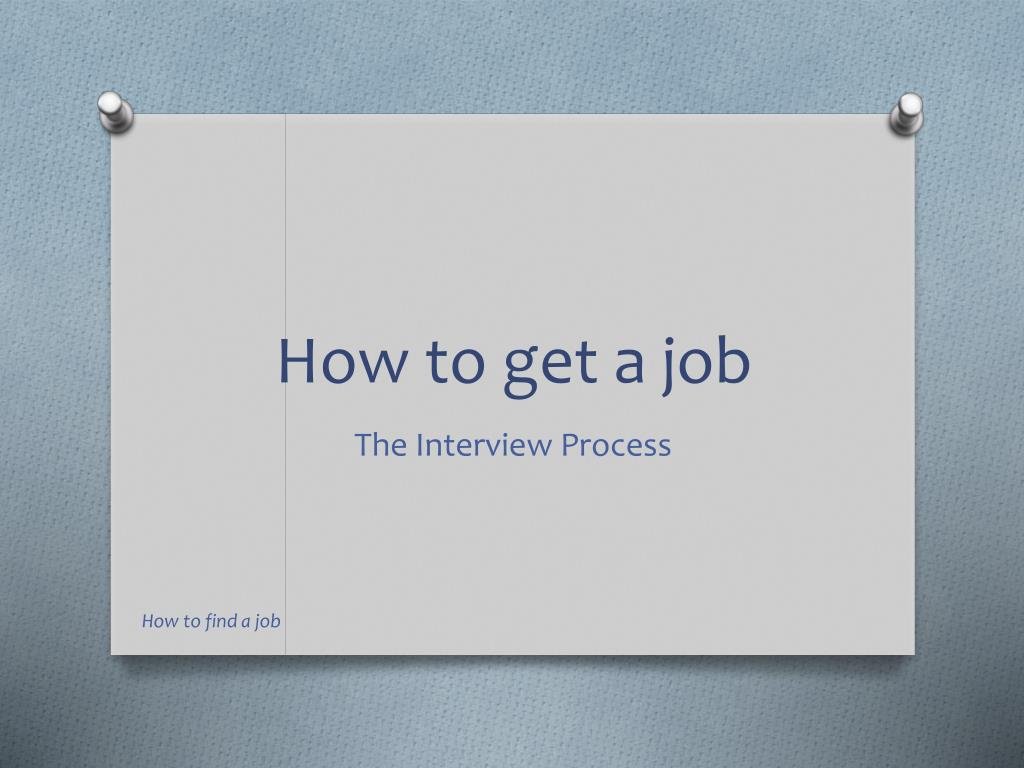 how to get a job l.