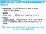how can we figure out the meaning of a word