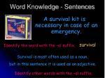 word knowledge sentences2
