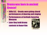 drama was born in ancient greece