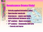 renaissance drama italy