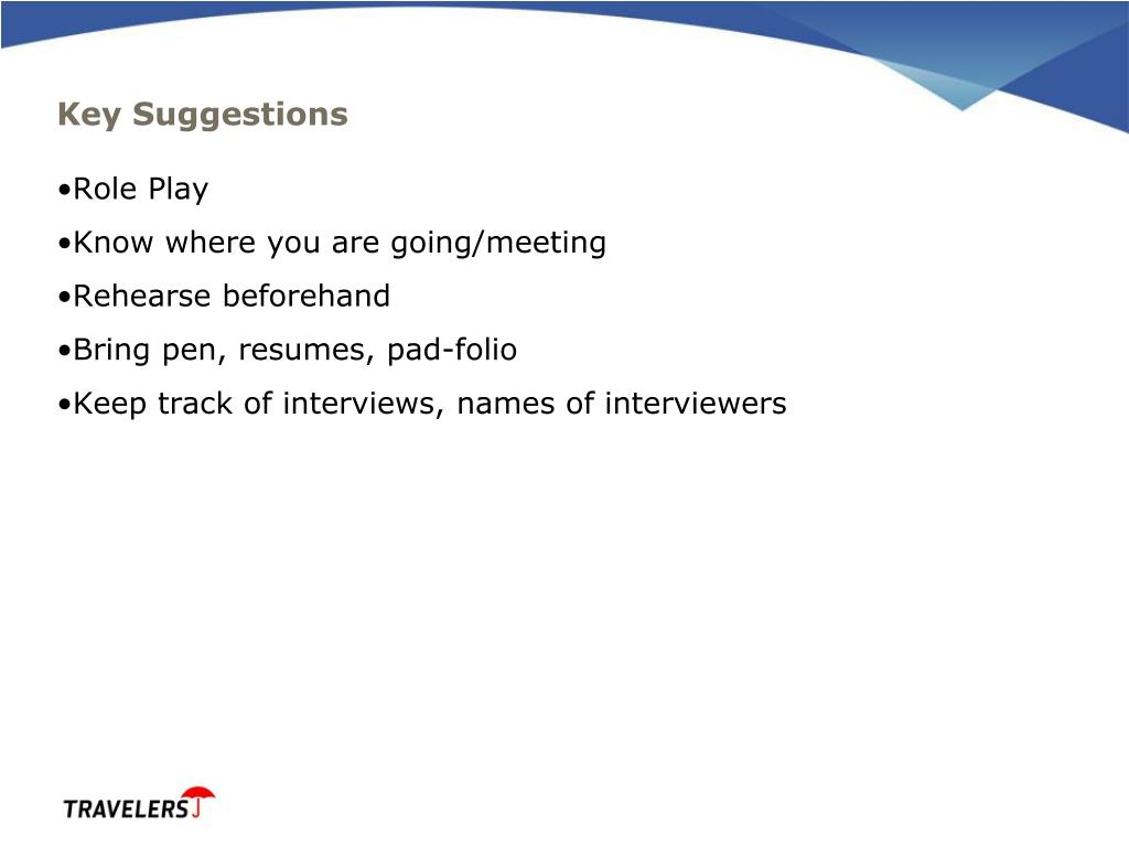 Key Suggestions