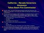 california nevada governors announce tahoe basin fire commission