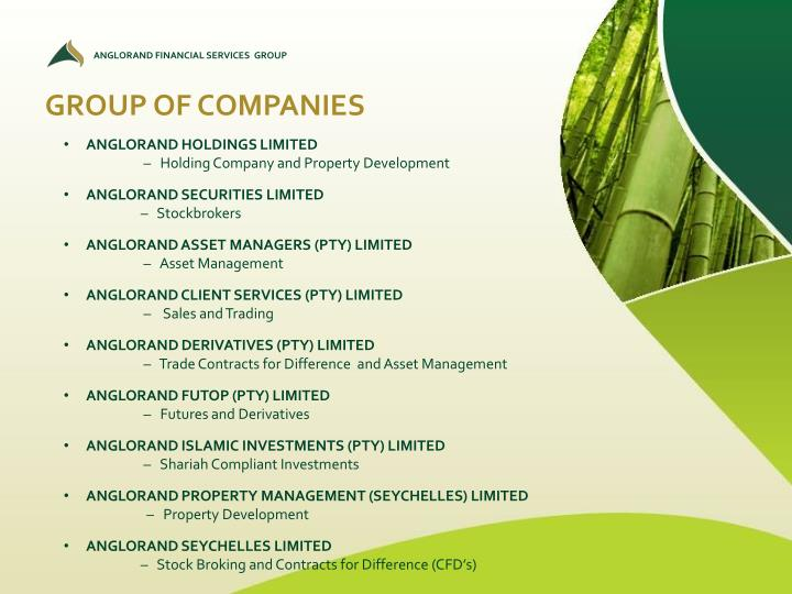 ANGLORAND FINANCIAL SERVICES  GROUP