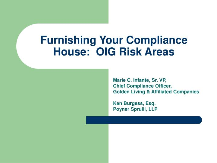 furnishing your compliance house oig risk areas n.