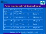 acute coagulopathy of trauma studies