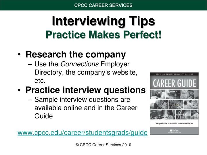 Interviewing tips practice makes perfect