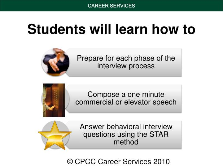 Students will learn how to