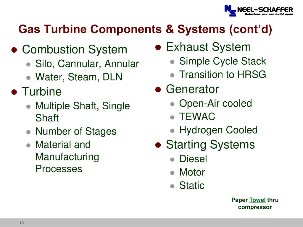PPT - Gas Turbine Technologies for Electric Generation