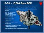 18 3 4 15 000 ram bop