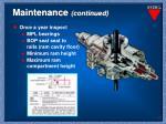 maintenance continued