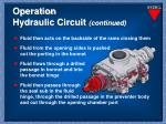 operation hydraulic circuit continued1