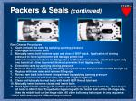 packers seals continued