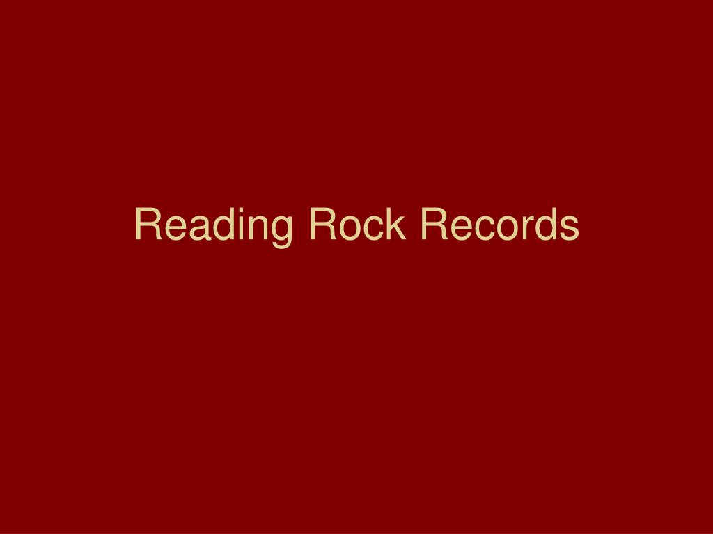 Reading Rock Records