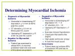 determining myocardial ischemia