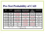 pre test probability of cad