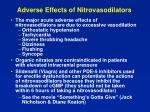 adverse effects of nitrovasodilators