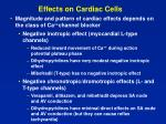 effects on cardiac cells