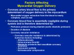 factors affecting myocardial oxygen delivery