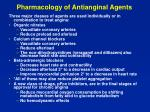 pharmacology of antianginal agents