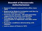 downfall of bureaucratic authoritarianism