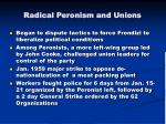 radical peronism and unions