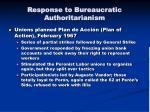 response to bureaucratic authoritarianism