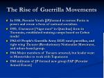 the rise of guerrilla movements