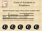 costs of accidents to employers