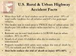 u s rural urban highway accident facts