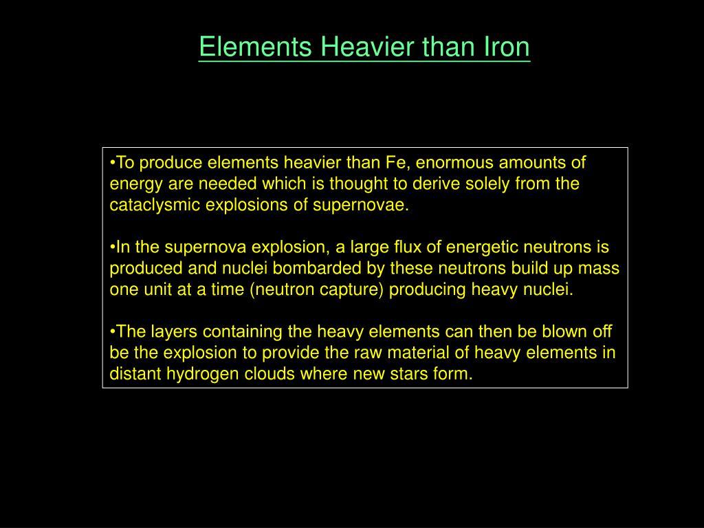 Elements Heavier than Iron