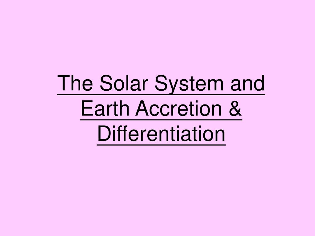 The Solar System and