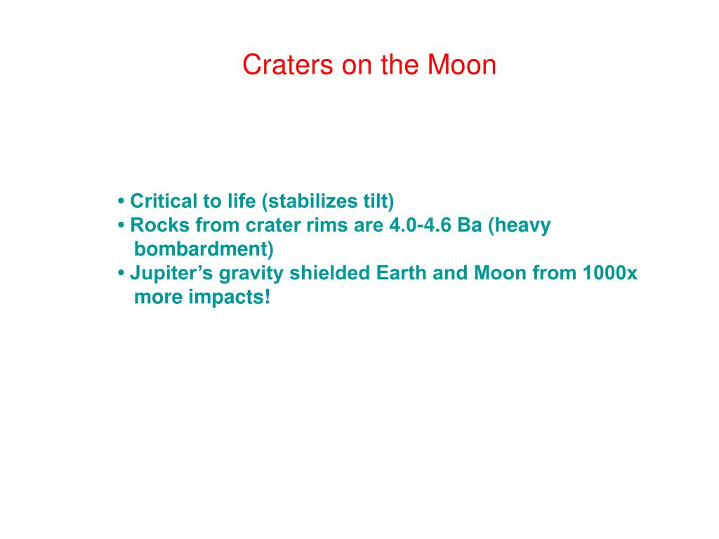 Craters on the Moon