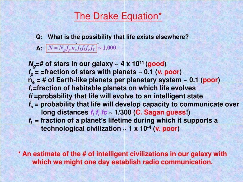 The Drake Equation*