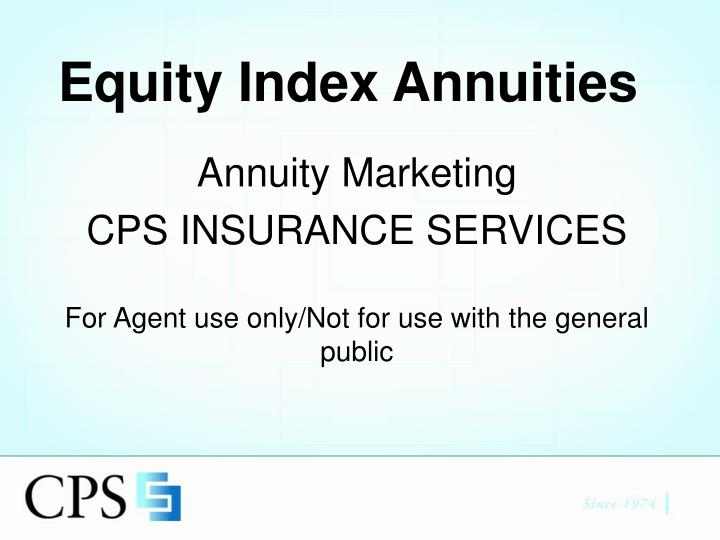 equity index annuities n.