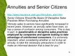 annuities and senior citizens