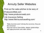 annuity seller websites