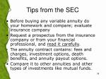 tips from the sec