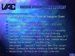 performance multiple module vacuum oven